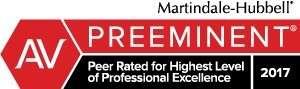 Martindale-Hubbell AV Preeminent badge for JMH